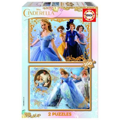 Educa-16327 2 Puzzles - Aschenputtel