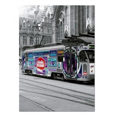 Puzzle Educa-16358 Straßenbahn in Gent, Belgien