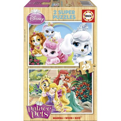 Educa-16370 2 Holzpuzzles - Palace Pets
