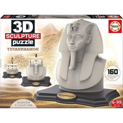 Educa-16503 3D Sculpture Puzzle - Tutankhamon