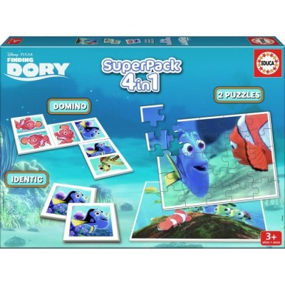 Puzzle  Educa-16691 Superpack 4 in 1 - Finding Dory