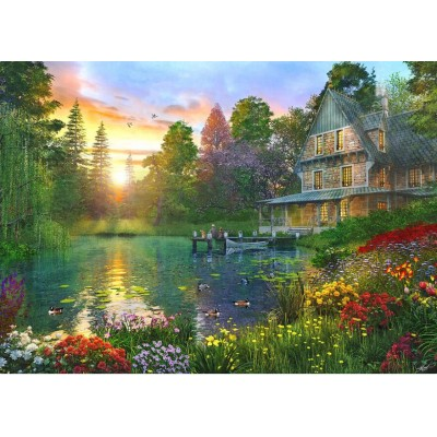 Puzzle  Educa-16746 Dominic Davison: XXL Teile - Fishing At Sunset