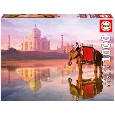 Puzzle  Educa-16756 Elephant at Taj Mahal