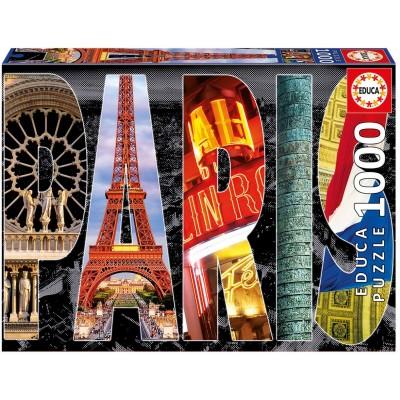 Puzzle  Educa-16757 Collage - Paris