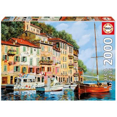 Puzzle  Educa-16776 La Barca Rossa alla Calata, Guido Borelli