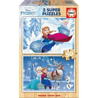 Educa-16802 2 Holzpuzzles - Frozen