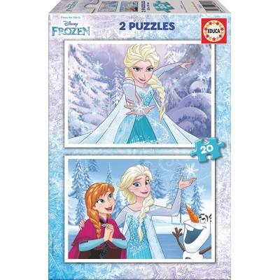 Educa-16847 2 Puzzles - Frozen