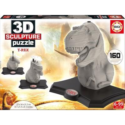 Educa-16967 Skulptur Puzzle - T-Rex