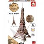 Educa-16998 3D Holzpuzzle - Eiffelturm, Paris