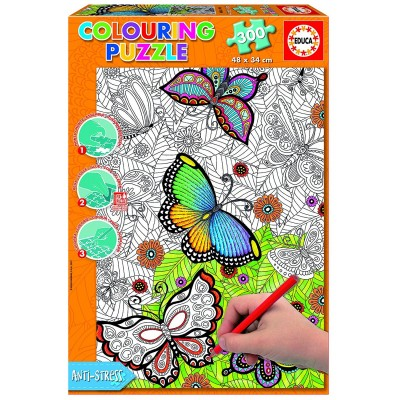 Educa-17089 Colouring Puzzle - All Good Things are Wild and Free