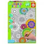 Educa-17090 Colouring Puzzle - Schöne Blüten
