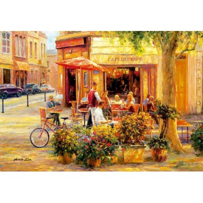 Puzzle  Educa-17130 Corner Café, Haixia Liu