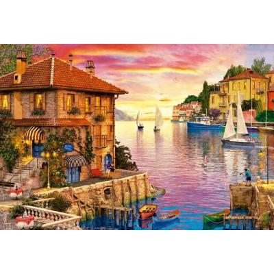 Puzzle  Educa-17135 Dominic Davison - The Mediterranean Harbour