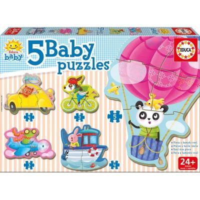 Educa-17141 5 Baby Puzzles