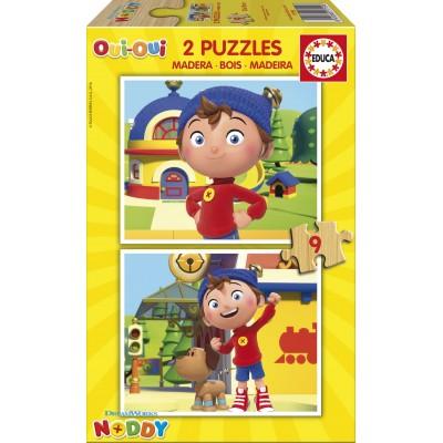 Educa-17159 2 Holzpuzzles - Noddy