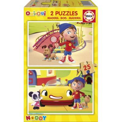 Educa-17161 2 Holzpuzzles - Noddy