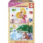 Educa-17163 2 Holzpuzzles - Disney Princess
