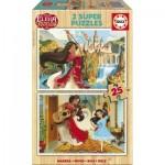 Educa-17235 2 Holzpuzzles - Elena d'Avalor