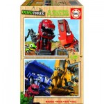 Educa-17270 2 Holzpuzzles - Dreamworks - Dinotrux