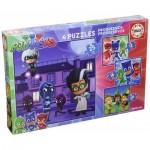 Educa-17273 4 Puzzles - PJ Masks