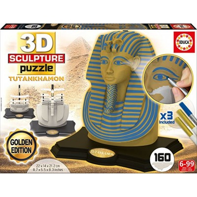 Educa-17335 3D Skulptur Puzzle - Tutanchamun