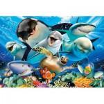 Puzzle  Educa-17647 Selfie Unter Wasser