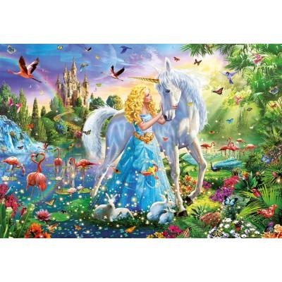 Puzzle  Educa-17654 Die Prinzessin und Das Einhorn