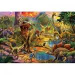 Puzzle  Educa-17655 Dinosaurier