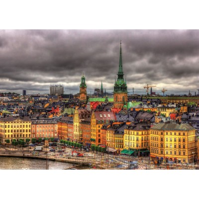 Puzzle  Educa-17664 Sehenswürdigkeiten Von Stockholm, Schweden