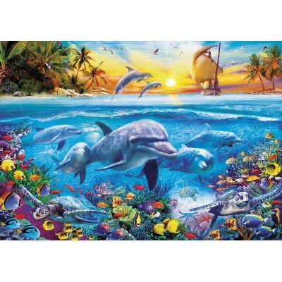 Puzzle  Educa-17672 Delfinfamilie