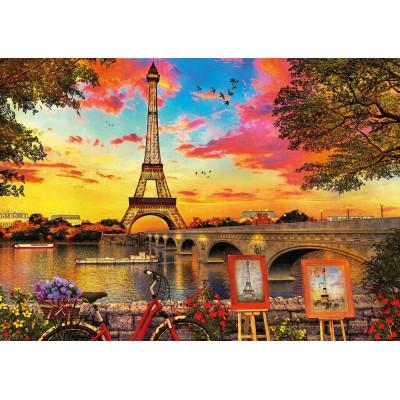 Puzzle  Educa-17675 Sonnenuntergang in Paris