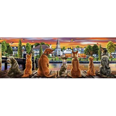 Puzzle  Educa-17689 Hunde Auf Dem Pier