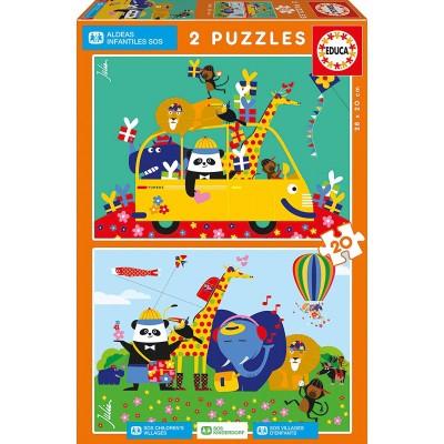 Puzzle  Educa-17725 Kinderdorf