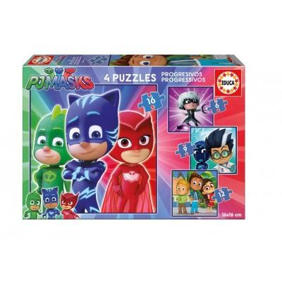 Educa-17731 4 Puzzles - PJ Masks