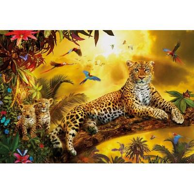 Puzzle  Educa-17736 Leoparden