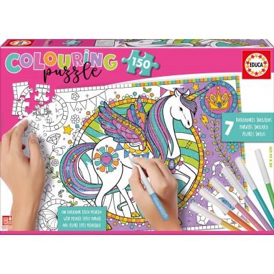 Educa-17828 Colouring Puzzles - Einhorn