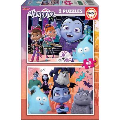 Educa-17940 2 Puzzles - Disney Vampirina