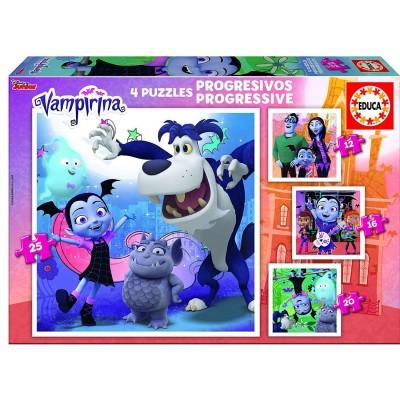 Educa-17941 4 Puzzles - Disney Vampirina