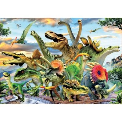 Puzzle  Educa-17961 Dinosaurier