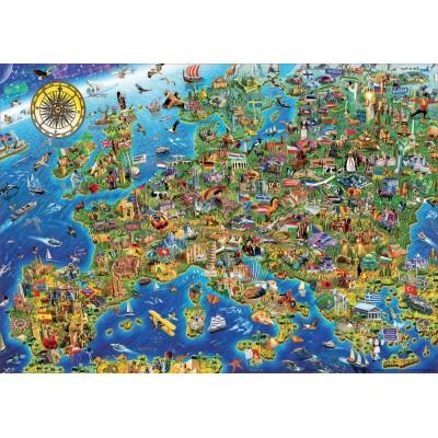 Puzzle  Educa-17962 Verrückte Europa-Landkarte