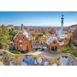 Puzzle  Educa-17966 Barcelona: Blick Vom Park Güell