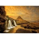 Puzzle  Educa-17971 Kirkjufellsfoss Wasserfall, Island