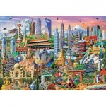 Puzzle  Educa-17979 Sehenswürdigkeiten In Asien