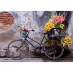 Puzzle  Educa-17988 Fahrrad Mit Blumen