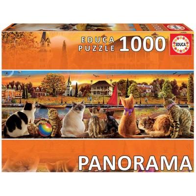 Puzzle  Educa-18001 Katzen Auf Dem Pier