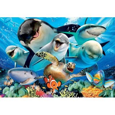 Puzzle  Educa-18062 Unterwasser-Selfie