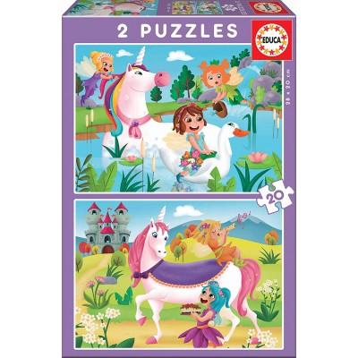 Puzzle  Educa-18064 Einhörner