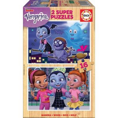 Educa-18080 Holzpuzzle - Disney - Vampirina