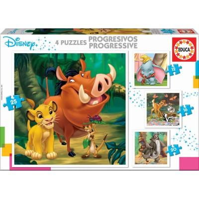 Educa-18104 4 Puzzles - Disney