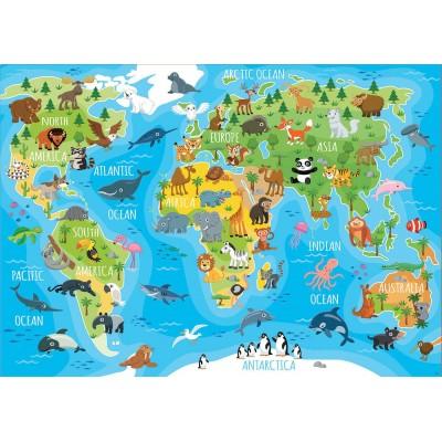 Puzzle  Educa-18115 World Map